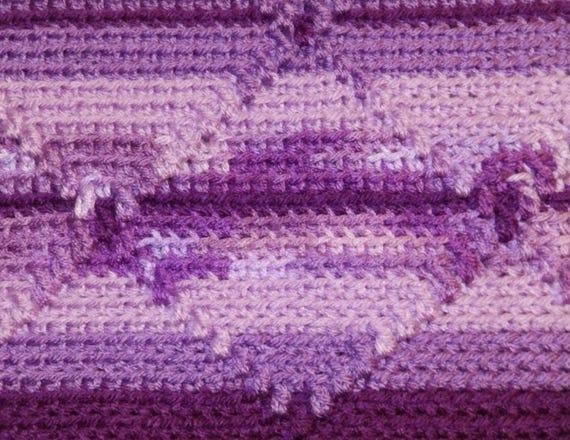 Häkelanleitung Navajo Decke/afghanischen mit Diamant-Design