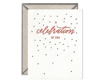 A Celebration of You letterpress card
