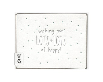 Lots of Happy letterpress card - set of six
