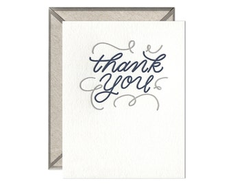 Thank You Flourishes letterpress card