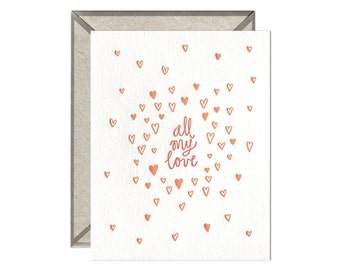 All My Love letterpress card