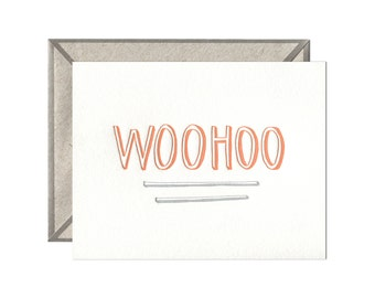 Woohoo letterpress card - single