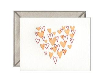 Heart of Hearts letterpress card - single