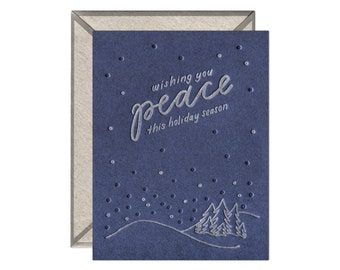 Wishing You Peace letterpress card