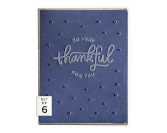So Very Thankful letterpress card - boxed set