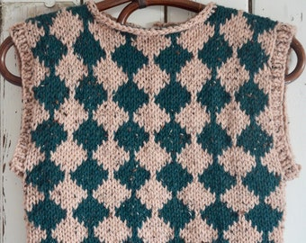 knitting pattern checkered spencer by woodwoolstool ENGLISH and DUTCH VERSION