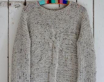 woodwoolstool knitted palmtree sweater pattern ENGLISH and DUTCH VERSION