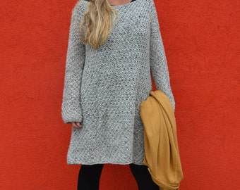 woodwoolstool pattern knitted sweater dress ENGLISH and DUTCH VERSION