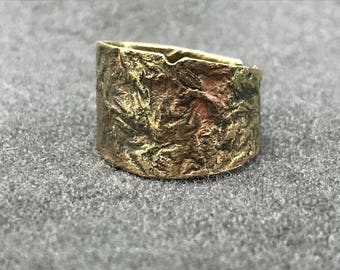 Brass reticulated ring size 10-12