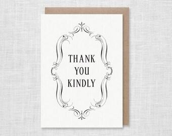 Thank You Kindly Letterpress Card