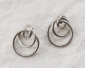 Vintage Silver Interlocked Earrings