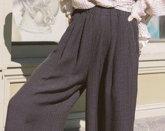 332e9e5dd0e 1990s Eileen Fisher Wool Wide Leg Pants