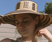 Vintage Two-Toned Woven Straw Hat