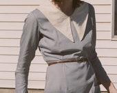 1930s Pointed Collar Nurse's Dress