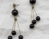 Vintage Tri Bead Dangle Earrings