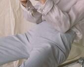 1990s Dove Gray Streamline Trousers | sz 4