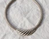 Abstract Silver Convertible Collar
