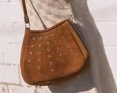 1960s Suede Side Zipper Bag