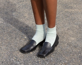1990s Soft Square Toe Loafers | 9.5