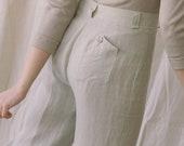1980s Giorgio Armani Linen Trousers