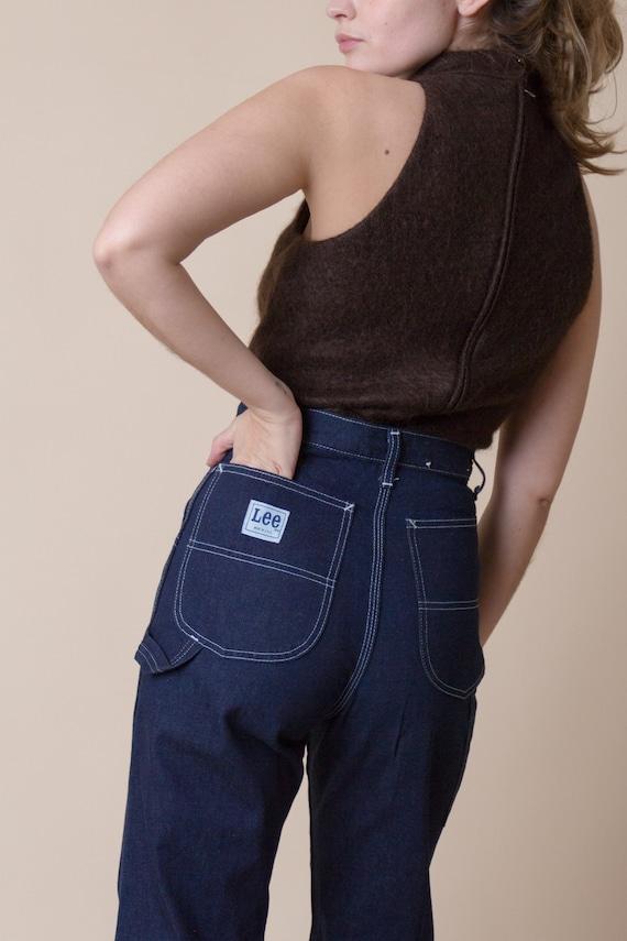 Vintage 70s Lee Dark Denim Painter Jeans