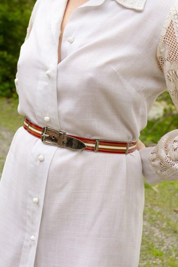 1970s Gucci Enamel Metal Belt - image 2