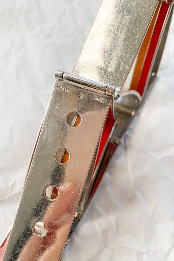 1970s Gucci Enamel Metal Belt - image 7