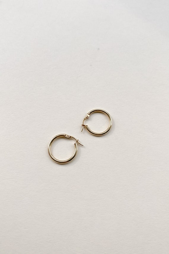 Small 14K Gold Hoops