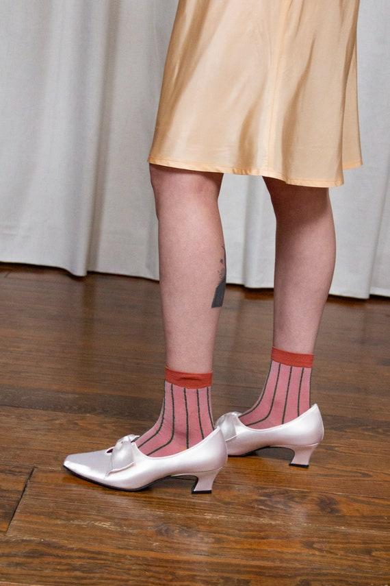 1980s Satin Renaissance Heels | 8