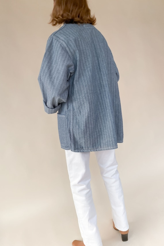 1970s Deadstock Herringbone Work Jacket - image 5