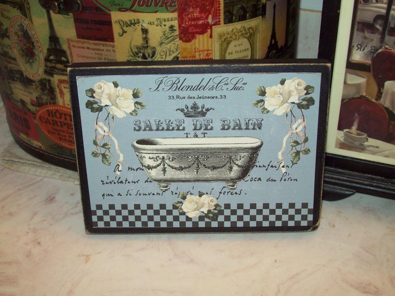 Lambris Pvc Salle De Bain Bricoman ~ Salle De Bain Sign French Bathroom Decor French Farmhouse Etsy