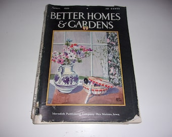Vintage Better Homes and Gardens Magazine April 1929 - Retro 1920's, Scrapbooking, Vintage Ads, Collectible