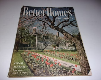 Vintage Better Homes and Gardens April 1949 - Art, Scrapbooking, Lots of Retro 1940s Ads, 320 Page Collectible
