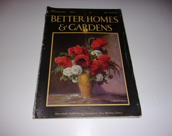 Vintage Better Homes and Gardens Magazine February 1929 - Scrapbooking, Art, Vintage Ads