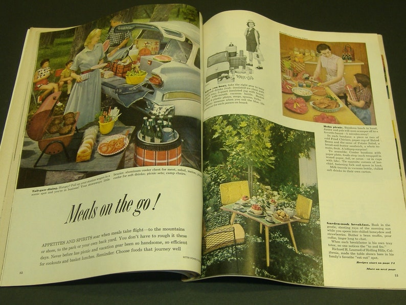 Vintage Better Homes and Gardens Magazine August 1958 - Art Retro 1950s  Vintage Ads Scrapbooking Paper Ephemera