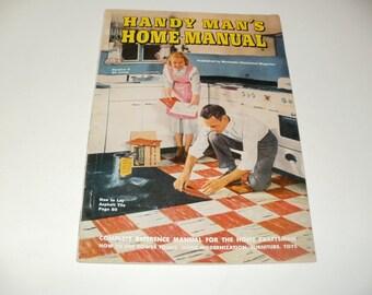 Vintage Handy Mans Home Manual 1948 - Home How-tos, Remodeling, Paper Ephemera Scrapbooking