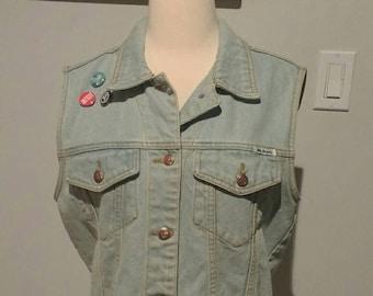 1980s Bill Blass Jean Vest