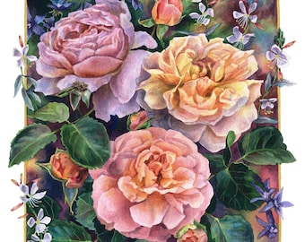 Fine Art Print of Original Watercolor Painting - Summer Sweetness