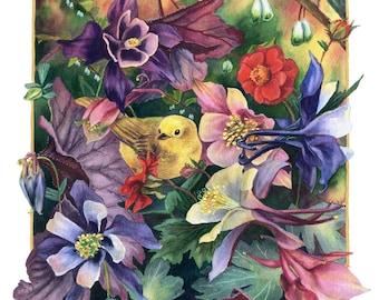 Fine Art Print of Original Watercolor Painting - Technicolor