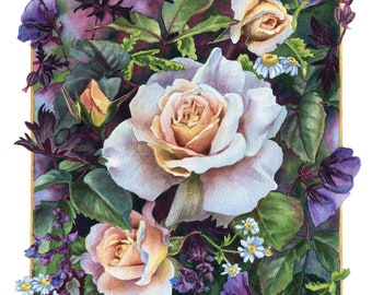 Fine Art Print of Original Watercolor Painting - Midsummer Dream