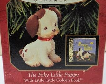 Hallmark The Poky Little Puppy Christmas Ornament 1999 NRFB Little Little Golden Book