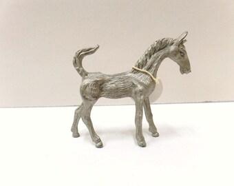 Pewter Kneeling Horse