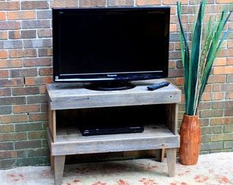 TV Stand Rustic. Media Cabinet. Reclaimed Wood TV Stand. Rustic Media Center.  Media Console. 35 W X 14 D X 25 T. Unfinished.