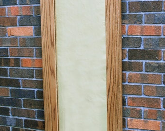 Distressed White Framed Mirror 66 Inch Mirror Weathered Etsy