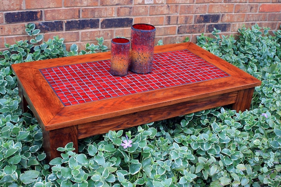 Astounding Red Mosaic Coffee Table Reddish Brown Coffee Table Mosaic Tile Coffee Table Organic Red Glass Coffee Table Fire And Ice Mosaic Ocoug Best Dining Table And Chair Ideas Images Ocougorg