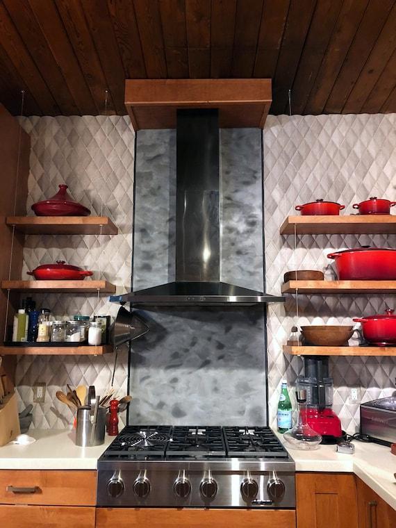 Kitchen Backsplash Stove Aluminum Wall Art Etsy