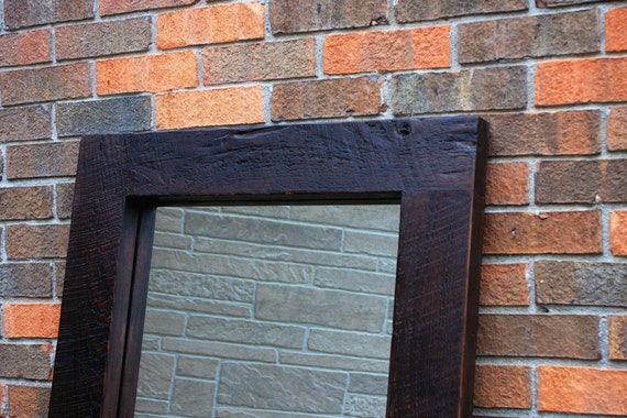 Framed Floor Mirror Thick Wooden Frame Mirror Chunky