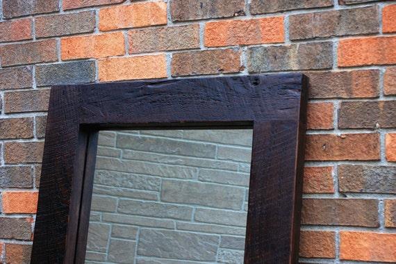 Framed Floor Mirror Thick Wooden Frame Mirror Chunky Framed Etsy