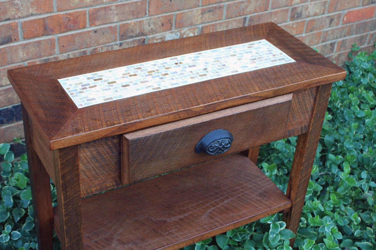 Tile Sofa Table Small Entry Table Mother Of Pearl Sofa
