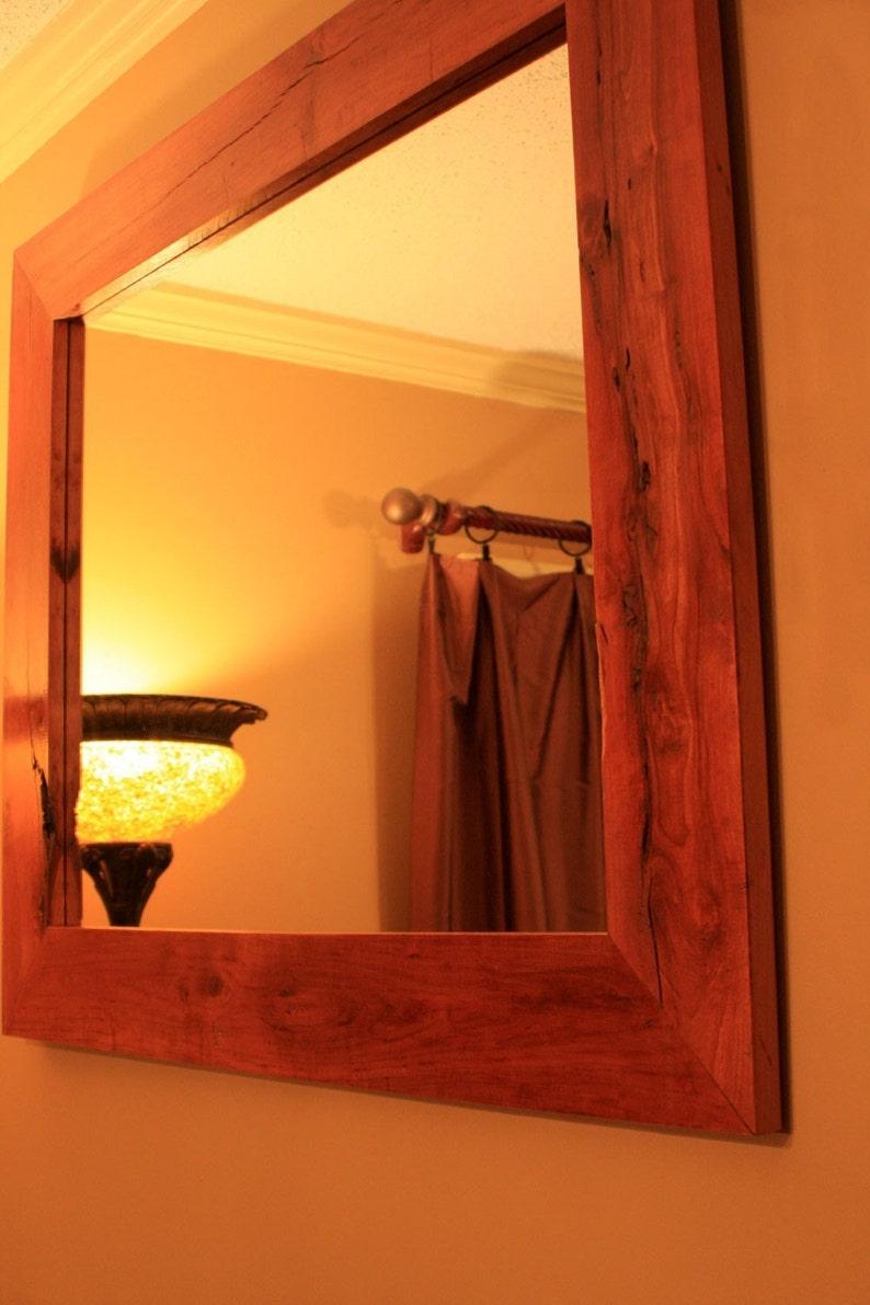 Cherry Framed Mirror. Rustic Cherry Framed Mirror ...